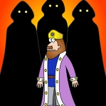 Lord British is held prisoner by the Shadowlords, until, surprise, surprise, he's rescued by the Avatar.