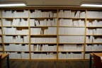 A room full of shelves full of books full of blank pages