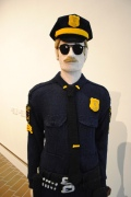 The knitted policeman. Don't make him point needles at you!