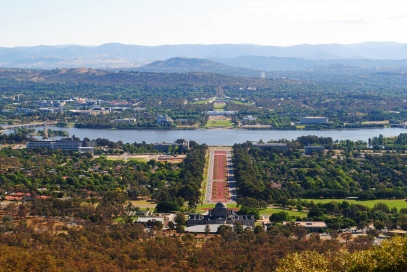 Canberra view from Mount Ainslie