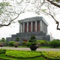Hanoi, Ho Chi Minh Mausoleum. Doesn't show the massive queue to get inside.