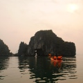 Ha Long Bay, kayaking in the morning