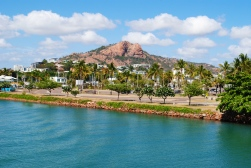 Townsville view from the ferry to the Magnetic Island