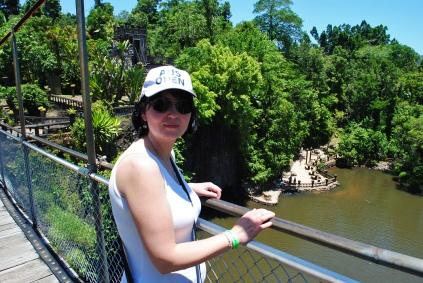 Hanging bridge at the Paronella Park
