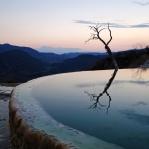 Pools near the petrified waterfalls