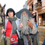 I just had to take a photo with the Mexican Gandalf in St Cristobal. He walked around with the Shire theme playing, and blue eye lenses. That's commitment to the role!