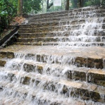 Steps turned into a waterfall