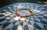 The shrine to John Lennon in Central Park, New York