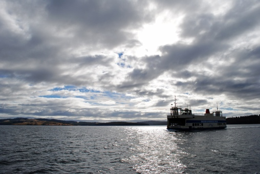 Morning ferry to Bruny Island