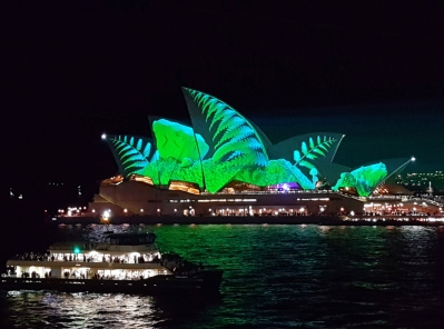 Sydney Opera House is of course the most spectacular light show on offer