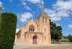 One of the many Lutheran churches in Barossa Valley