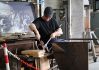 Glass blowing demonstration at Murano