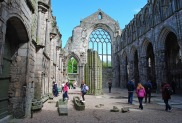 The ruins of medieval abbey at Holyrood Palace
