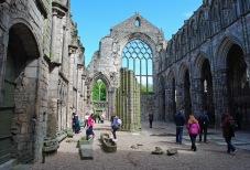 The ruins of medieval abbey at Holyrood Palace