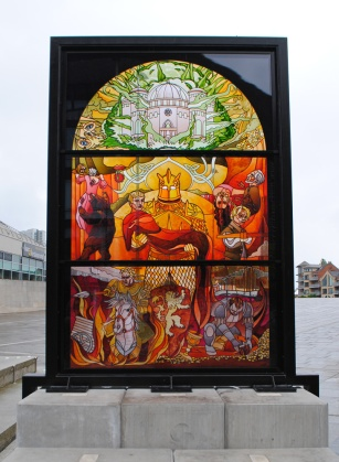 Lannister family stained glass artwork in Belfast